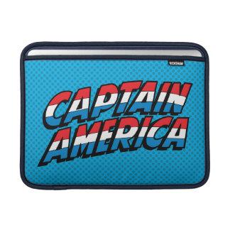 Captain America Name Logo Sleeve For MacBook Air