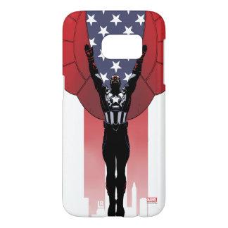 Captain America Patriotic City Graphic