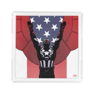 Captain America Patriotic City Graphic Acrylic Tray