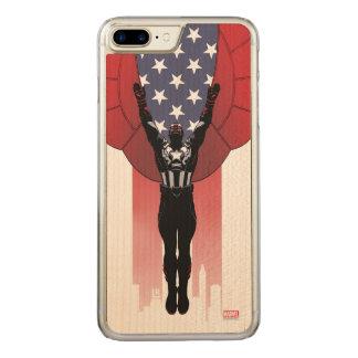 Captain America Patriotic City Graphic Carved iPhone 8 Plus/7 Plus Case