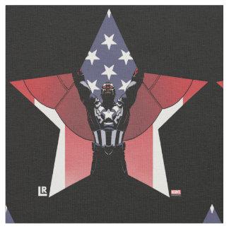 Captain America Patriotic City Graphic Fabric