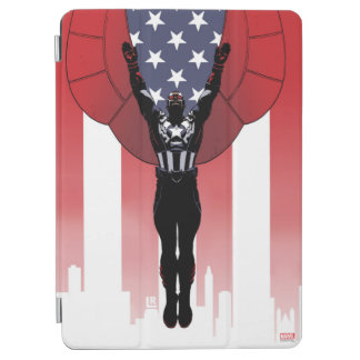 Captain America Patriotic City Graphic iPad Air Cover