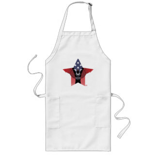 Captain America Patriotic City Graphic Long Apron