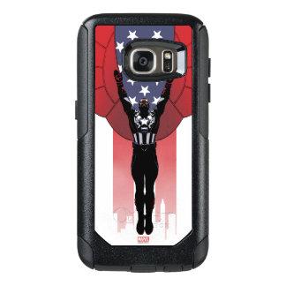 Captain America Patriotic City Graphic OtterBox Samsung Galaxy S7 Case