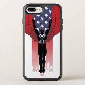 Captain America Patriotic City Graphic OtterBox Symmetry iPhone 8 Plus/7 Plus Case