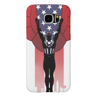 Captain America Patriotic City Graphic Samsung Galaxy S6 Cases