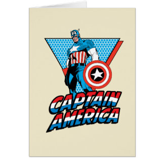 Captain America Retro Character Graphic Card