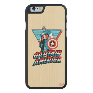 Captain America Retro Character Graphic Carved Maple iPhone 6 Case