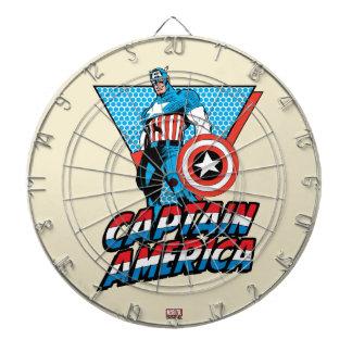 Captain America Retro Character Graphic Dartboard