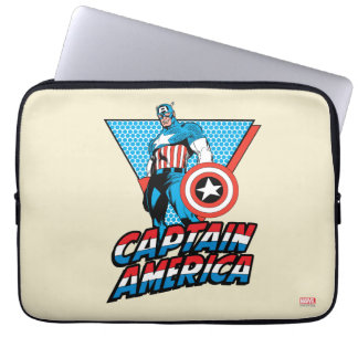 Captain America Retro Character Graphic Laptop Sleeve