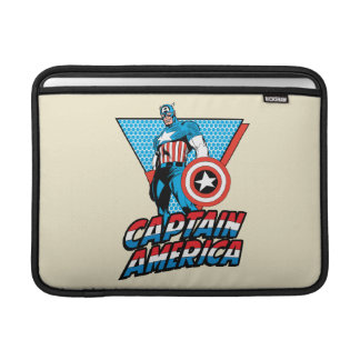 Captain America Retro Character Graphic MacBook Sleeve