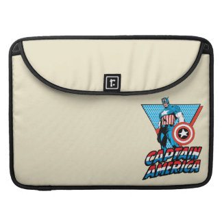 Captain America Retro Character Graphic Sleeve For MacBook Pro
