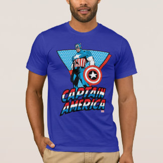 Captain America Retro Character Graphic T-Shirt