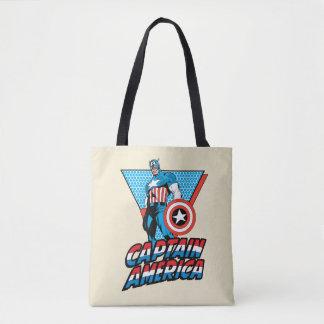 Captain America Retro Character Graphic Tote Bag
