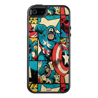 Captain America Retro Comic Book Pattern OtterBox iPhone 5/5s/SE Case