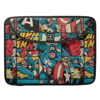 Captain America Retro Comic Book Pattern Sleeve For MacBooks