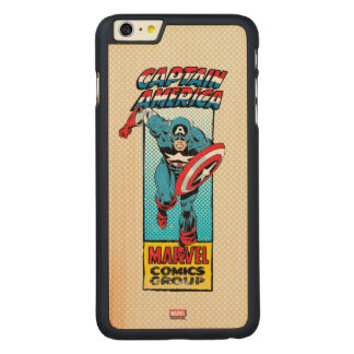Captain America Retro Comic Character Carved Maple iPhone 6 Plus Case
