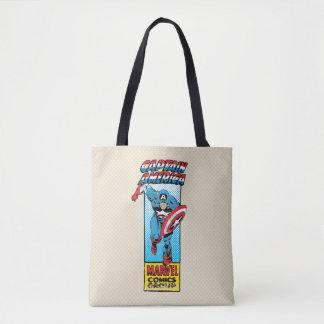Captain America Retro Comic Character Tote Bag