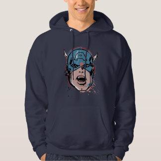 Captain America Retro Comic Halftone Head Hoodie