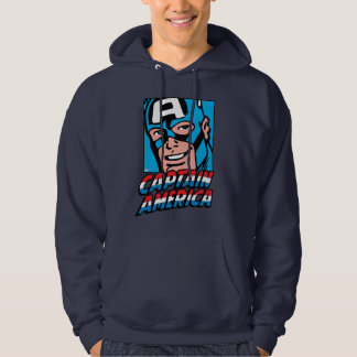 Captain America Retro Comic Icon Hoodie