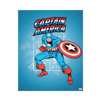 Captain America Retro Price Graphic Canvas Print
