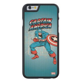 Captain America Retro Price Graphic Carved Maple iPhone 6 Case
