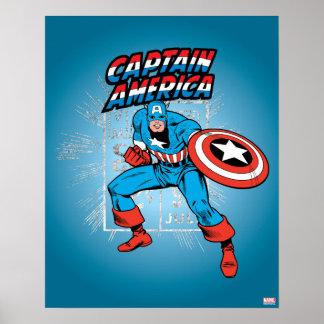 Captain America Retro Price Graphic Poster