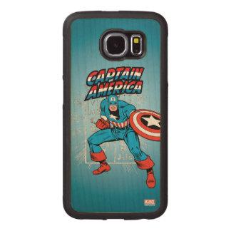 Captain America Retro Price Graphic Wood Phone Case