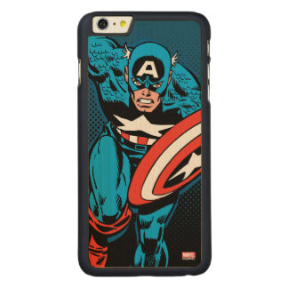 Captain America Run Carved Maple iPhone 6 Plus Case