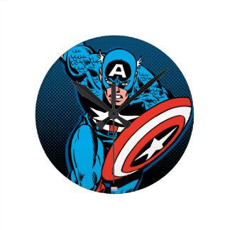 Captain America Run Round Clock