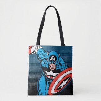 Captain America Run Tote Bag