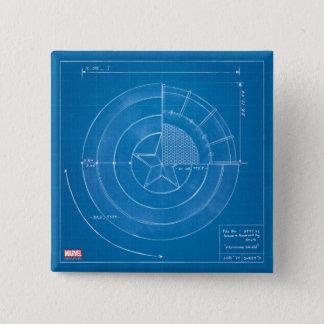 Captain America Shield Blueprint 15 Cm Square Badge