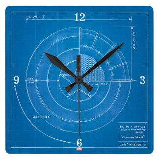 Captain America Shield Blueprint Clocks