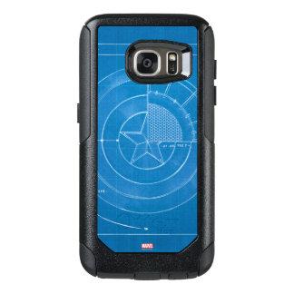Captain America Shield Blueprint OtterBox Samsung Galaxy S7 Case