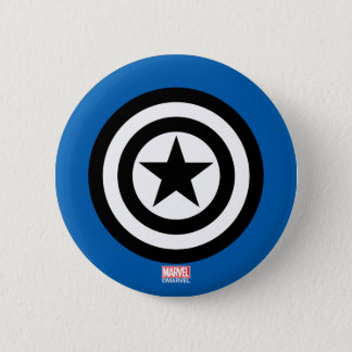 Captain America Shield Icon 6 Cm Round Badge