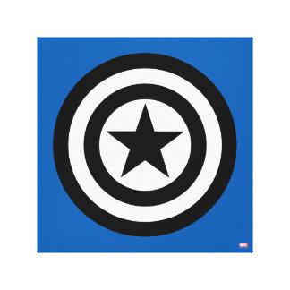 Captain America Shield Icon Canvas Print