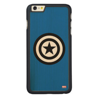 Captain America Shield Icon Carved Maple iPhone 6 Plus Case