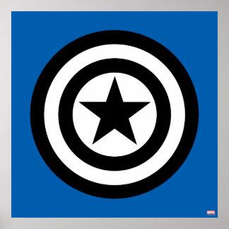Captain America Shield Icon Poster