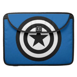 Captain America Shield Icon Sleeve For MacBooks