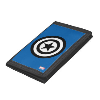 Captain America Shield Icon Trifold Wallet