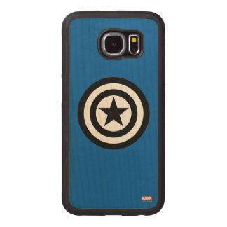 Captain America Shield Icon Wood Phone Case