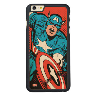 Captain America Shield Slam Carved Maple iPhone 6 Plus Case