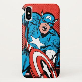 Captain America Shield Slam iPhone X Case