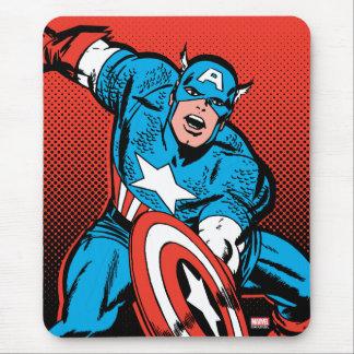 Captain America Shield Slam Mouse Pad