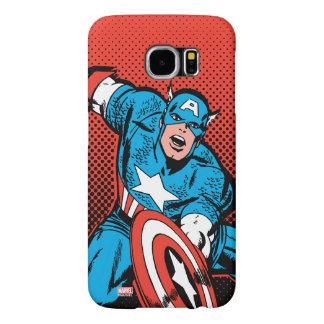 Captain America Shield Slam Samsung Galaxy S6 Cases