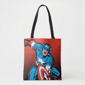 Captain America Shield Slam Tote Bag