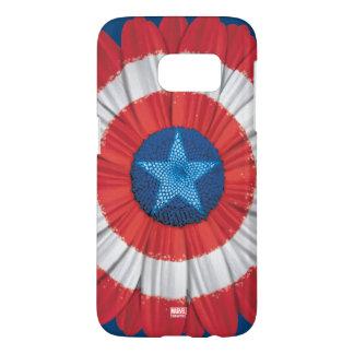 Captain America Shield Styled Daisy Flower