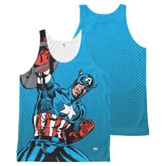 Captain America Shield Up All-Over Print Singlet