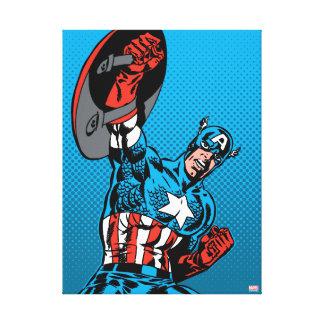 Captain America Shield Up Canvas Print