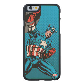 Captain America Shield Up Carved Maple iPhone 6 Case